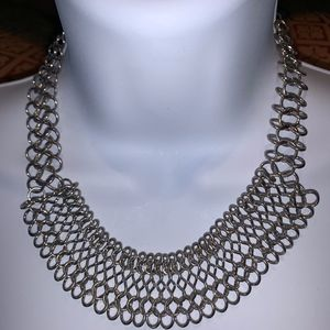 Silver Tone Unique Necklace